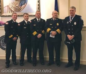 Firefighter Steve Crum with the WCFD Chiefs