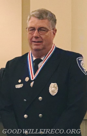 Firefighter Crum with his new Medal of Valor