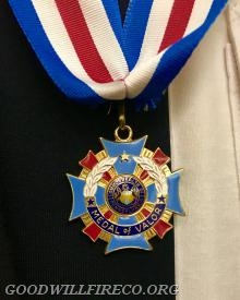 A close up of the Medal of Valor