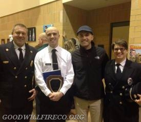 Picture L-R: Assistant Chief Jon Stafford, Firefighter Kyle McCorkle, Kyle's brother Dan McCorkle (also a GW firefighter and a firefighter with the Philadelphia FD) and Firefighter Tracey Axelrod.
