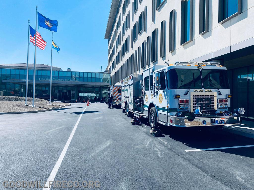 Engine 52-1 at Chester County Hospital's Open House