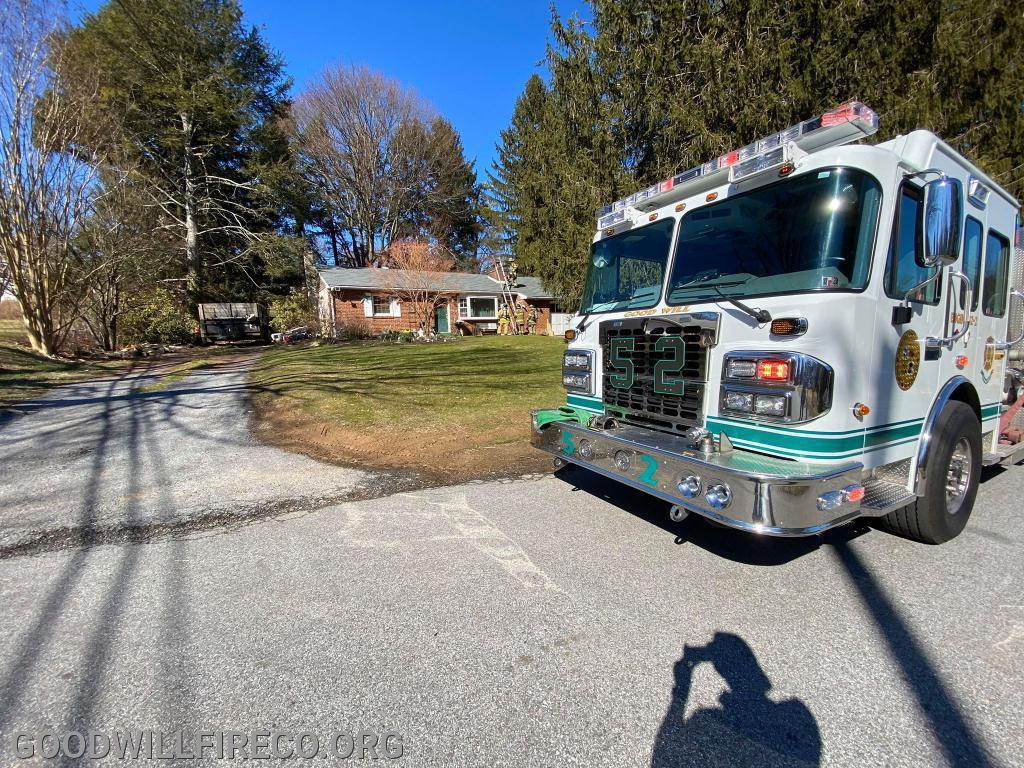 Engine 52-2 at the Chimney Fire in the 53 local