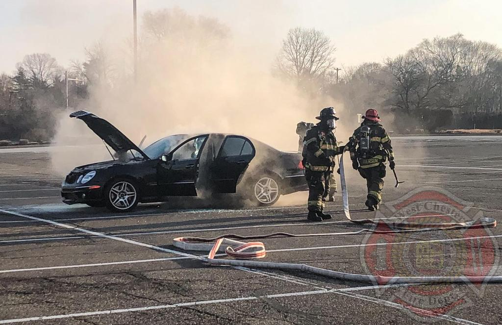 Car Fire in the 900 Block of Paoli Pike.