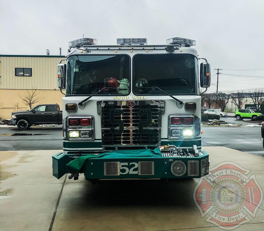 Engine 52-1(Lt C. Simpkins) returning to Station after handling the first call in the New Engine
