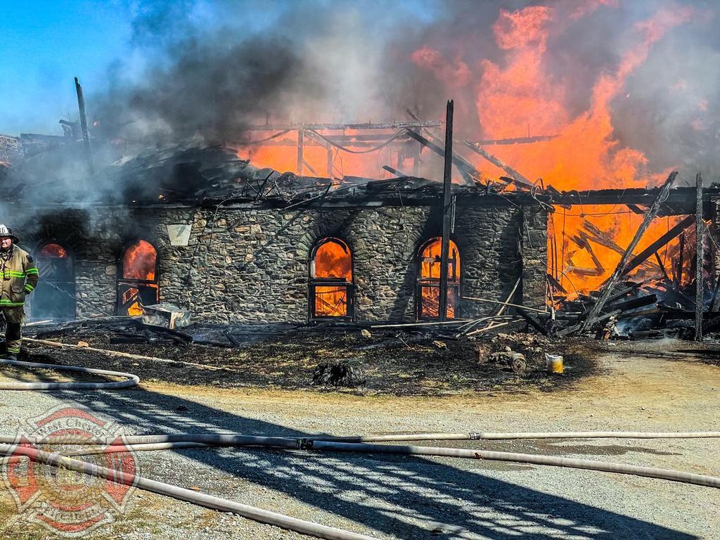 Working Barn Fire in Longwood Fire Co. First Due