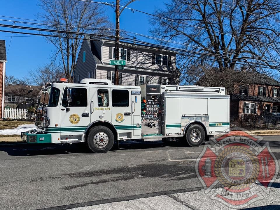Engine 52-1(FF A. Smiley) operating at a First Due Box