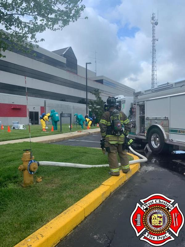 Engine 52-1 assisting the Chester County HazMat Team