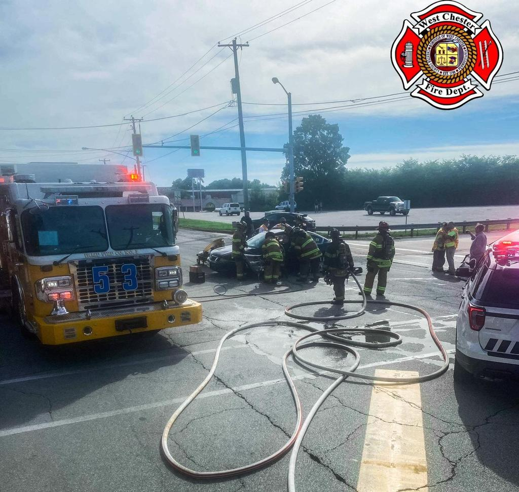 Accident with entrapment on Paoli Pike