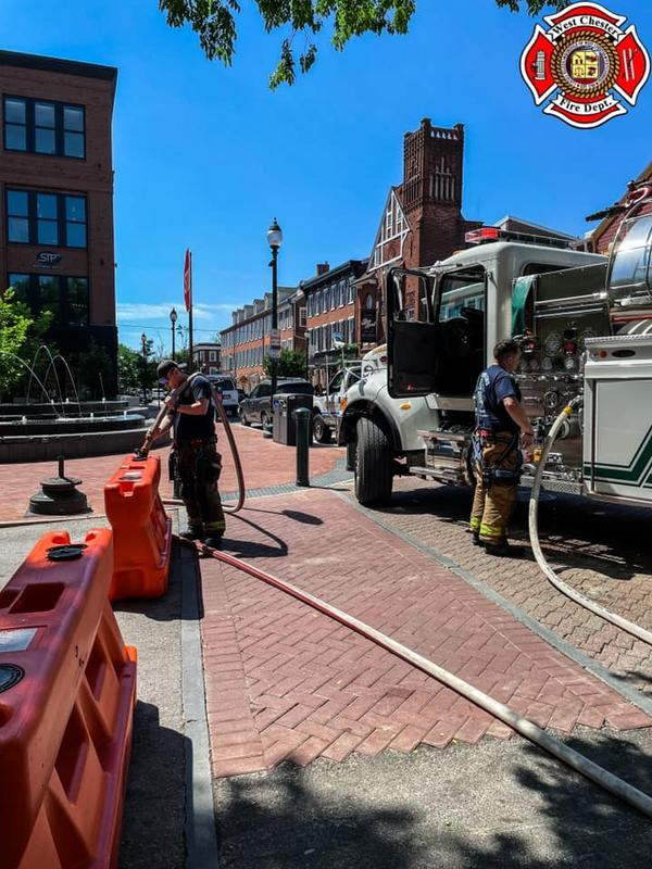 Tanker 52 assisting with the Gay St. closure